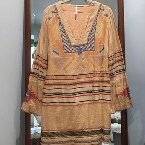 Free People Aztec Print Tunic Dress Size Small